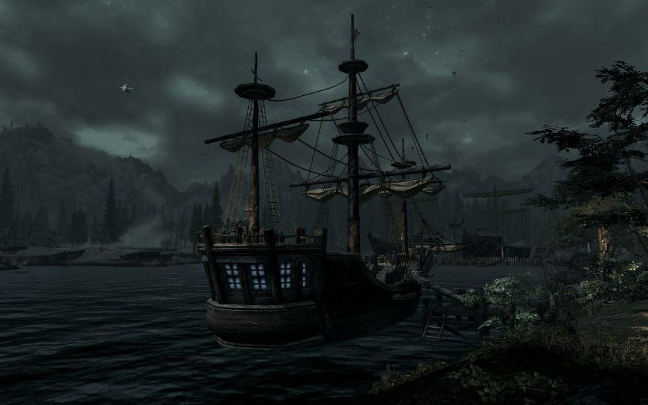Rain and ship