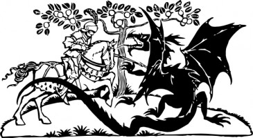 st_george_and_the_dragon_clip_art_15551
